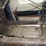 Test fitting the floor pan