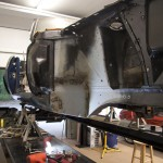 Torque box welded in place