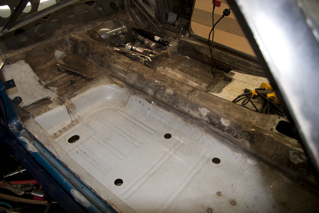 Floor Pan Seam Welded Back The Restomod A Car Garage